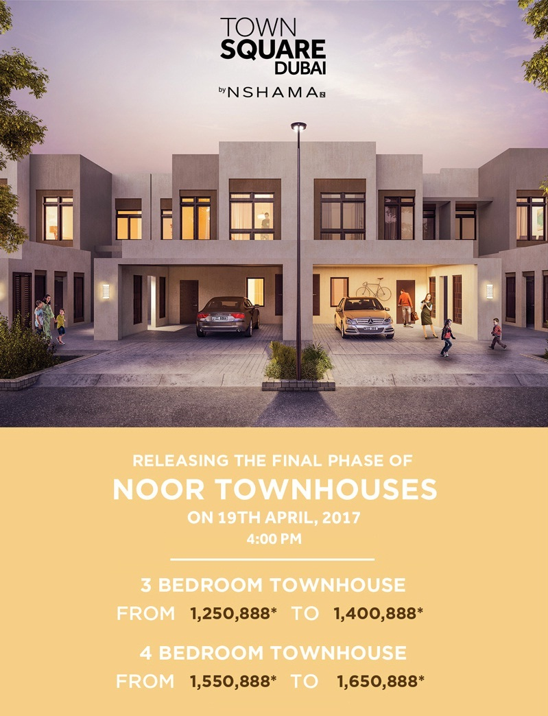 Noor Townhouses by Nshama at Town Square Dubai